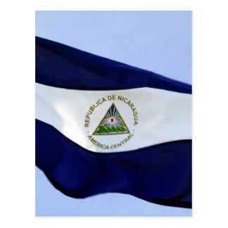 nicaraguan flag postcard