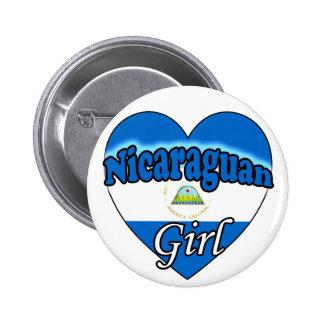Nicaraguan Girl Pinback Button