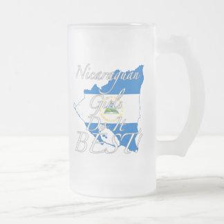 Nicaraguan Girls Do It Best! Frosted Glass Beer Mug