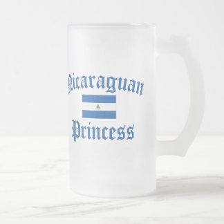 Nicaraguan Princess Frosted Glass Beer Mug