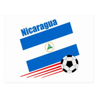 Nicaraguan Soccer Team Postcard