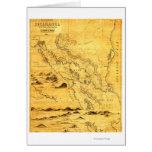 NicaraguaPanoramic MapNicaragua Greeting Card