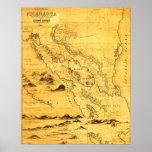 NicaraguaPanoramic MapNicaragua Póster