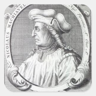 Niccolo Machiavelli, 1724 Pegatina Cuadrada
