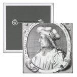 Niccolo Machiavelli, 1724 Pin Cuadrada 5 Cm