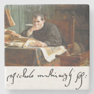 Niccolò Machiavelli en su estudio, por Stephano Posavasos De Piedra