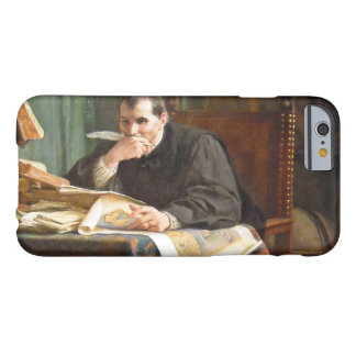 Niccolò Machiavelli in his study, by Stephano Ussi Barely There iPhone 6 Case