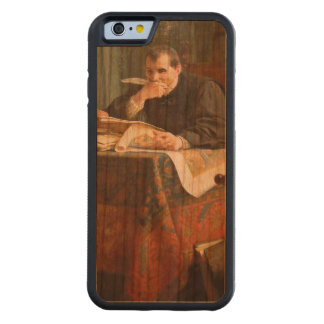 Niccolò Machiavelli in his study, by Stephano Ussi Carved® Cherry iPhone 6 Bumper Case
