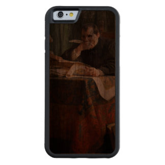 Niccolò Machiavelli in his study, by Stephano Ussi Carved® Walnut iPhone 6 Bumper