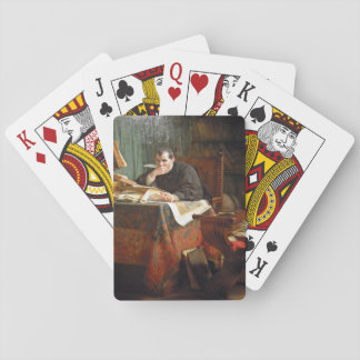 Niccolò Machiavelli in his study, by Stephano Ussi Card Decks
