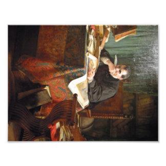 Niccolò Machiavelli in his study, by Stephano Ussi Photo Print