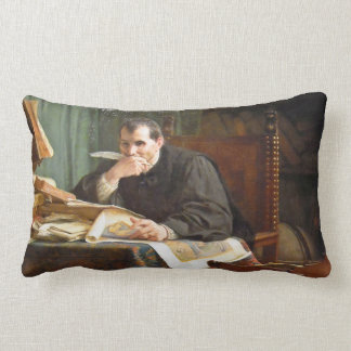 Niccolò Machiavelli in his study, by Stephano Ussi Pillow