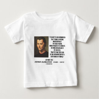 Niccolo Machiavelli New Order Of Things Quote Baby T-Shirt
