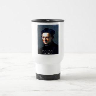 "Niccolo Machiavelli ""Power"" Wisdom Quote Gifts Travel Mug"