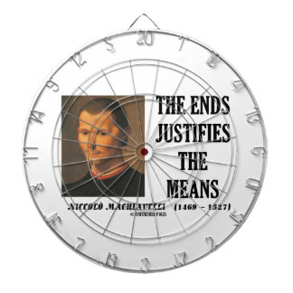 Niccolo Machiavelli The Ends Justifies The Means Dartboard With Darts