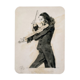 Niccolo Paganini 1782-1840 Playing the Violin 1 Flexible Magnet