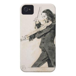 Niccolo Paganini (1782-1840) que toca el violín, 1 Case-Mate iPhone 4 Cobertura