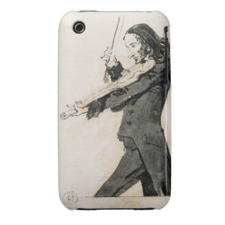 Niccolo Paganini (1782-1840) que toca el violín, 1 iPhone 3 Protectores
