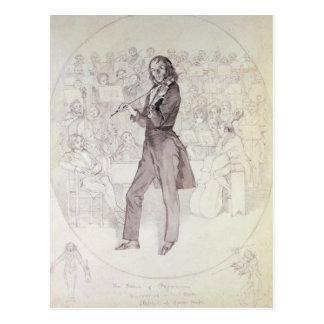 Niccolo Paganini , violinist Postcard