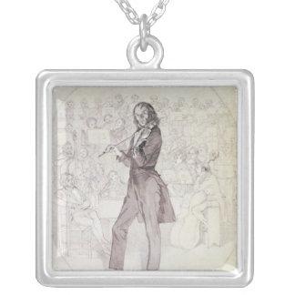Niccolo Paganini , violinist Silver Plated Necklace