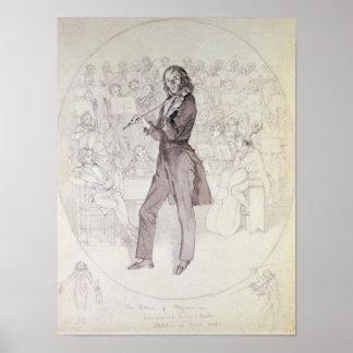 Niccolo Paganini, violinista Póster