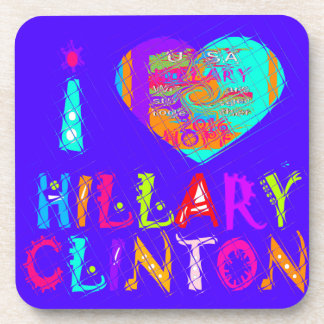 Nice and lovey Amazing Hope Hillary for USA Colors Coaster