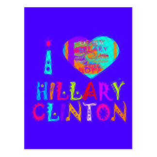 Nice and lovey Amazing Hope Hillary for USA Colors Postcard