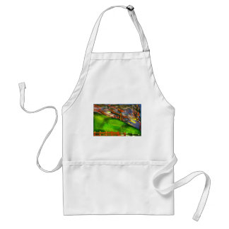 nice and windy night adult apron