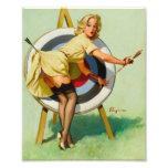 Nice Archery Shot - Retro Pin Up Girl Art Photo