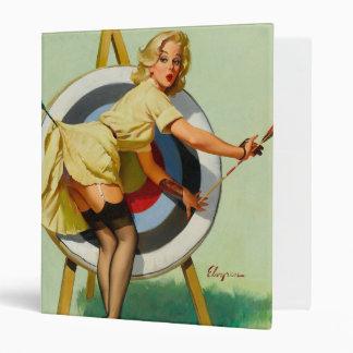 Nice Archery Shot - Retro Pin Up Girl Binder