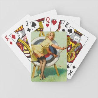 Nice Archery Shot - Retro Pin Up Girl Card Decks