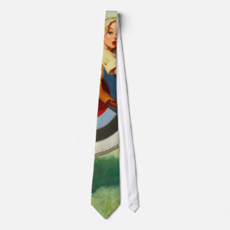 Nice Archery Shot - Retro Pin Up Girl Tie