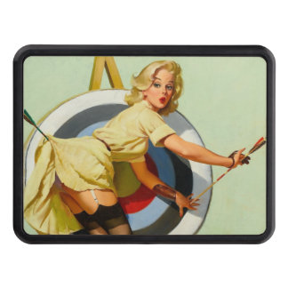 Nice Archery Shot - Retro Pin Up Girl Tow Hitch Cover