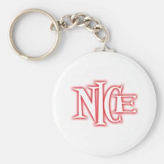 nice basic round button keychain