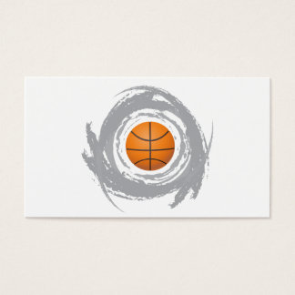 Nice Basketball Circular Grunge Business Card