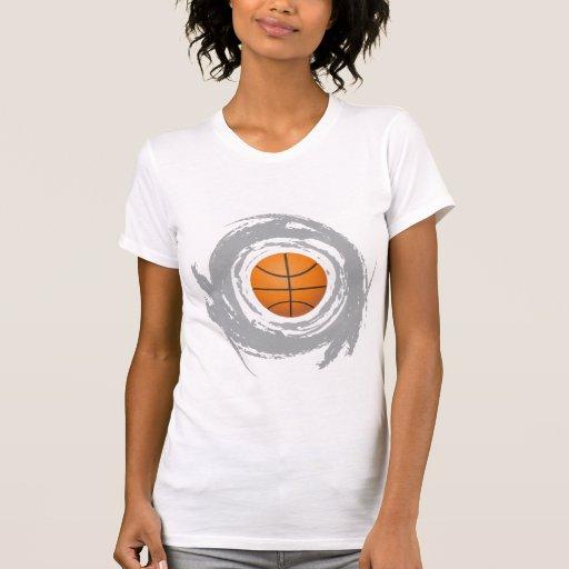 Nice Basketball Circular Grunge Shirt