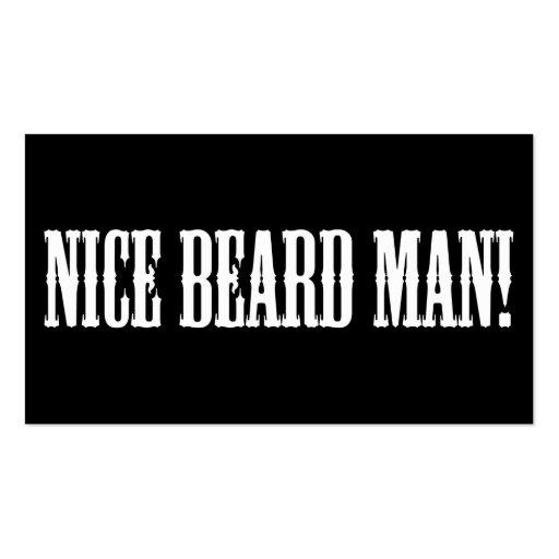 Nice beard Business card Business Cards