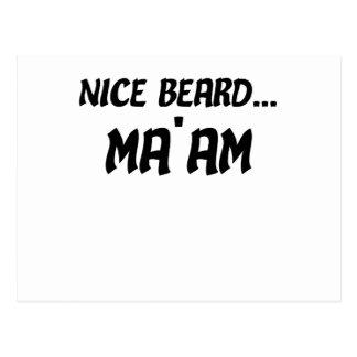 Nice Beard Ma'am Postcard