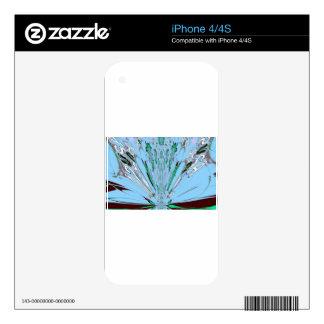 Nice Beautiful Aqua Blue  amazing  Floral Motif de iPhone 4S Decals