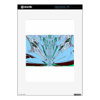 Nice Beautiful Aqua Blue  amazing  Floral Motif de Skin For The iPad