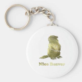 nice beaver keychain