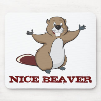 NICE BEAVER MOUSE PAD