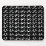 "nice bicycle . biking . bike-themed mouse pad<br><div class=""desc"">Many small bikes in a cool and simple pattern - you can edit the background color and change the color of the bicycles</div>"