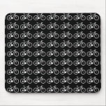 """nice bicycle . biking . bike-themed mouse pad<br><div class=""""desc"""">Many small bikes in a cool and simple pattern - you can edit the background color and change the color of the bicycles</div>"""