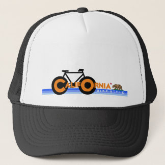 nice bicycle . biking . bike-themed trucker hat