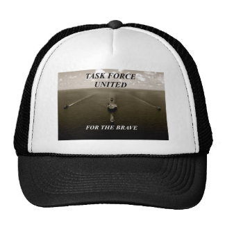 nice black and white image of warships sailing trucker hat