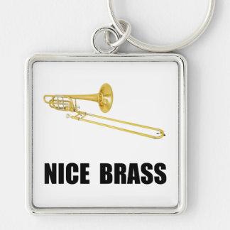 Nice Brass Trombone Keychain