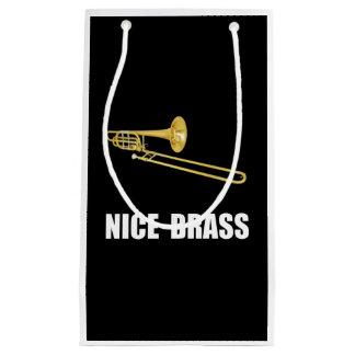 Nice Brass Trombone Small Gift Bag