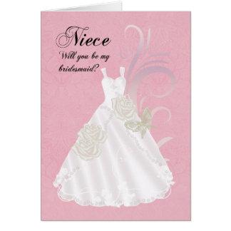 Nice, Bridesmaid, Will You Be My Bridesmaid, Pink Greeting Card