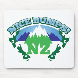 NICE BUMPS New Zealand map with mountains Mouse Pad